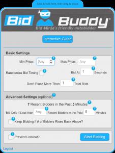 BidBuddy - Bid-Ninja's friendly autobidder - for DealDash and QuiBids